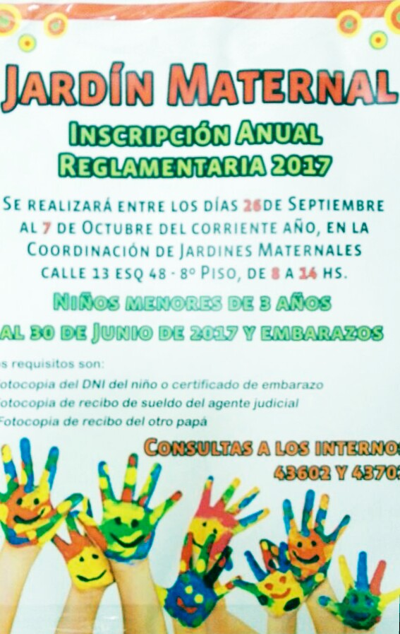 jardin maternal inscripcion 2017 ajb la plata